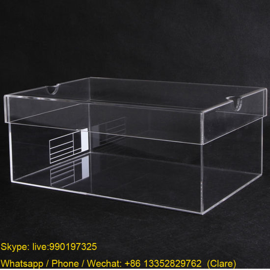 Plexiglass Shoes Display Box, Perspex Storage Boxes