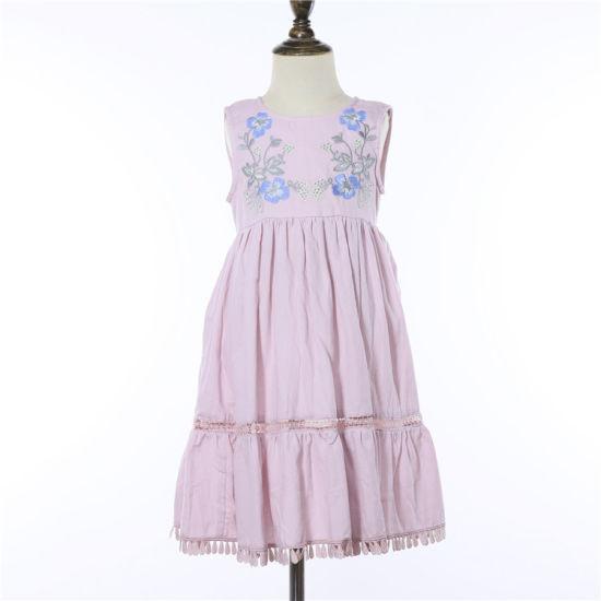 Wholesale Fashion Style Kid Cloths Girl Embroidery Dress Beauty Girl Dress