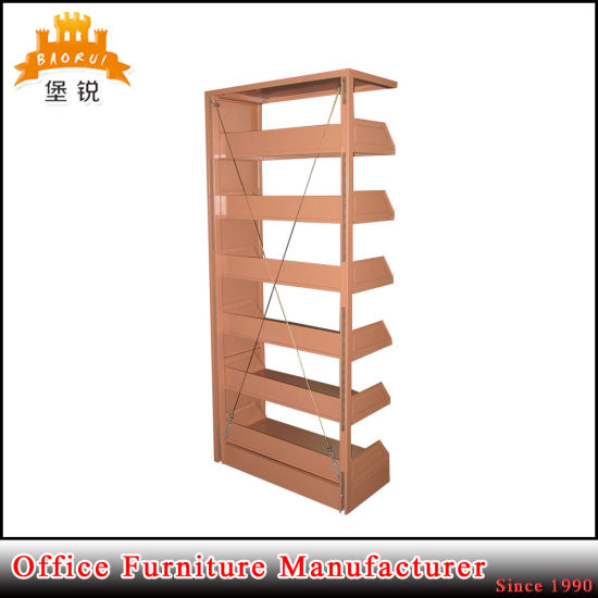 Modern Design One Side 5 Layer Steel Iron Commercial Metal Magazine Shelf Racks for Library and Office pictures & photos
