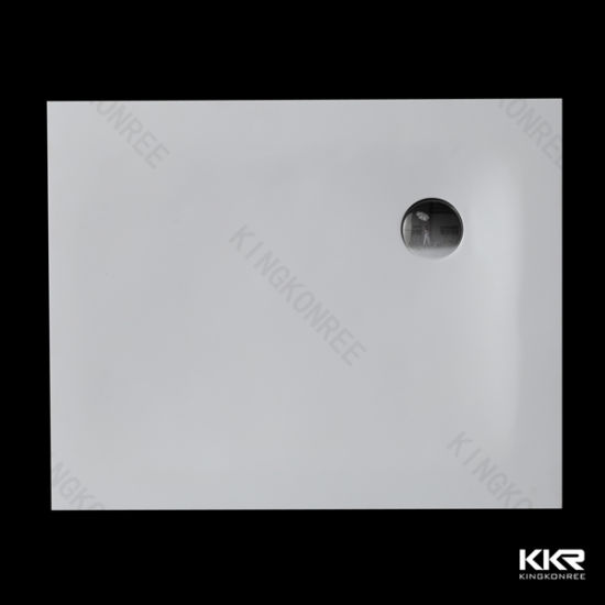 Factory Price Good Quality Pure White Solid Surface Acrylic Shower Trays 0309
