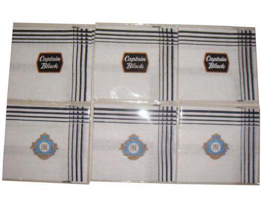 Brocade Handkerchief with Logo Print