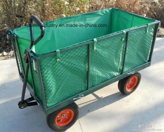 1000lbs Heavy-Duty Garden Wagon Mesh Cart with Tarpaulin (tc1840h)