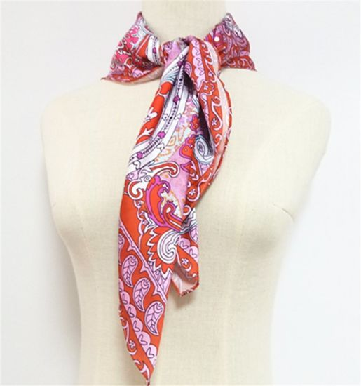 Women's Small Square Silk Satin Hair Scarf Wholesale Scarves