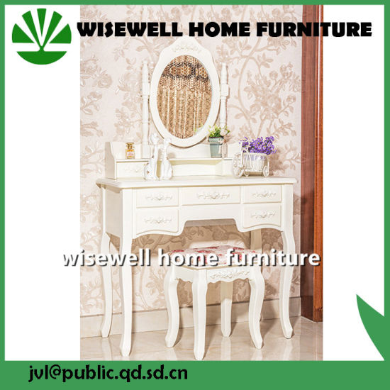 Wood Modern Furniture Dresser Table with Mirror (W-HY-028) pictures & photos