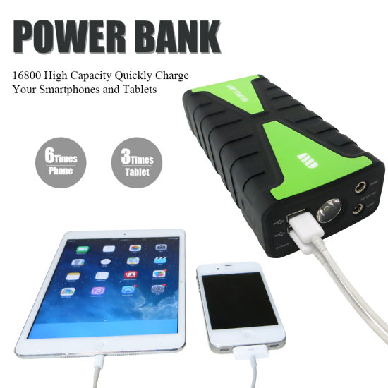 16800mAh Mini Portable Jump Starter Car Lithium Battery Charger pictures & photos