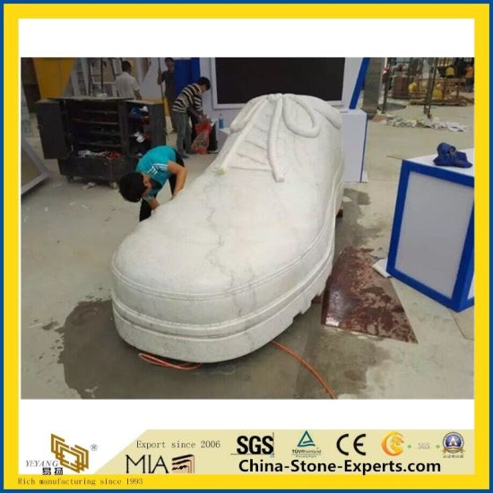 Natural Castro White Marble Carving/Statue/Granite Stone Sculpture for Plaza/Garden/Decoration