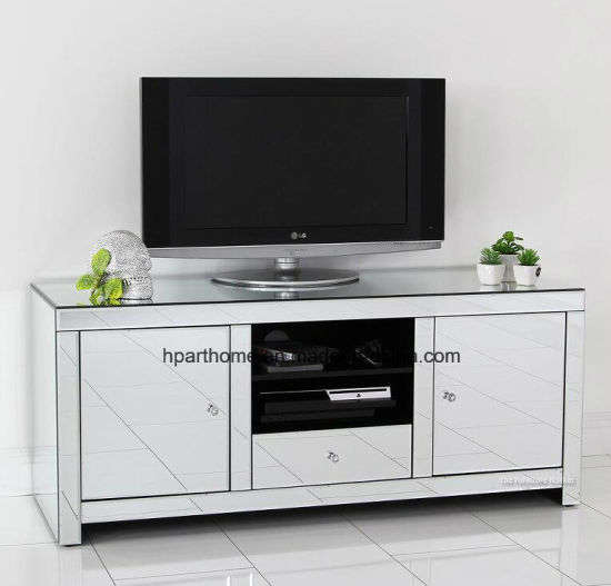 China Best Selling Clear Mirror Harmony TV Rack with Two
