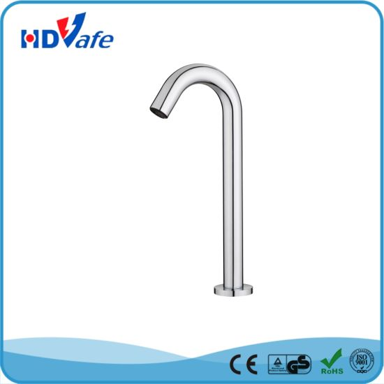 China Factories High Neck Sink Brass Kitchen Faucet Sensor