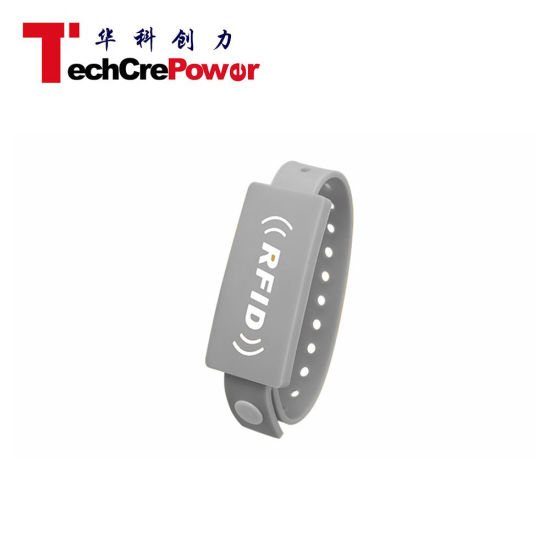 Cheap Press Button 125kHz RFID Smart PVC Wristband pictures & photos
