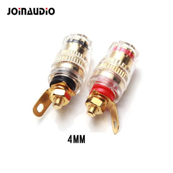 4 Pcs Video Speaker Terminal Connectors Binding Post 4mm Banana Jack Socket