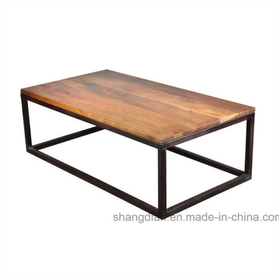 Apartment Center Table Design Wooden Square Table For Sale (ST0037)
