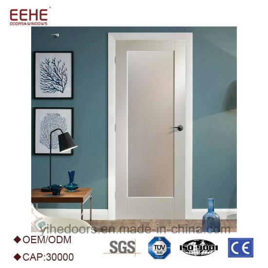 China White Shaker Door With 6 Panel Teak Wood Door Interior Or