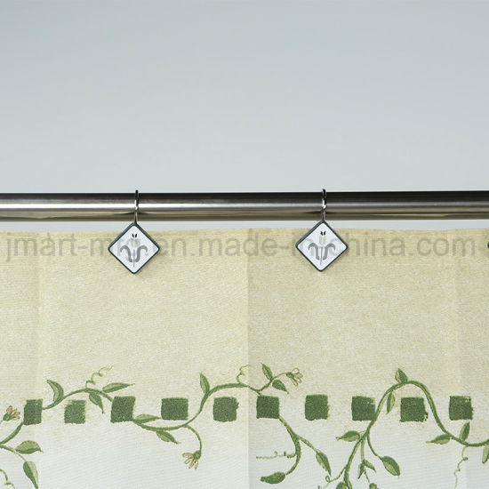 Eco-Friendly Water-Resistent Polyester Fabric Bath Curtain for Shower pictures & photos