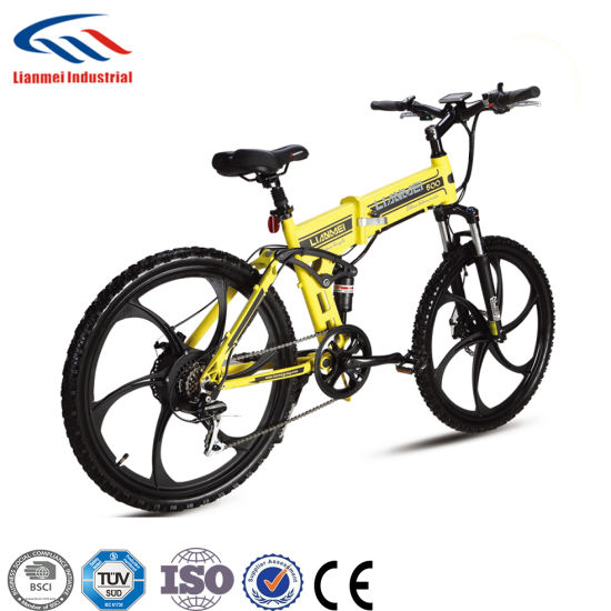 2 Wheels Lithium Battery Electric Mountain Bike pictures & photos