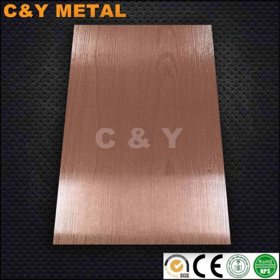 China Wooden Grain Embossing Sheet with Red-Copper Colors - China ...