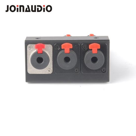 DIY PRO Audio 3 Port 6.35 XLR Pedaltrain Side Mount Panel Kit for Pedalboard