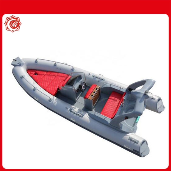 Ce Rib Boat 580 Hypalon Fiberglass Inflatable Military Large Fishing Yacht for Sale