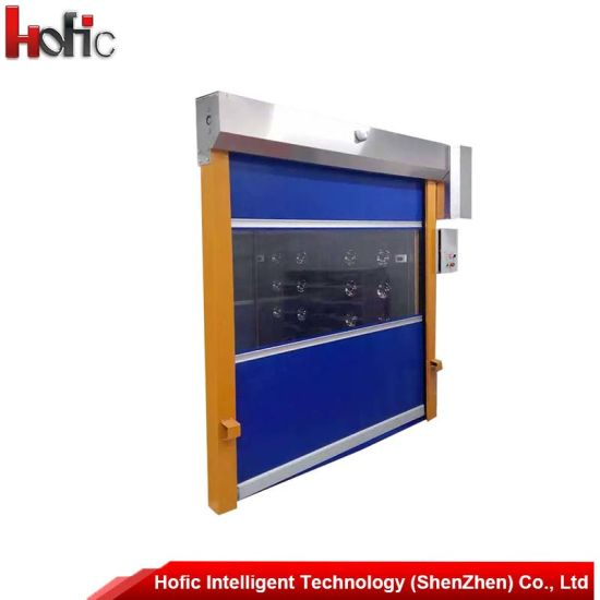 Exterior Motorized High Speed PVC Fast Rapid Rolling Shutter Door