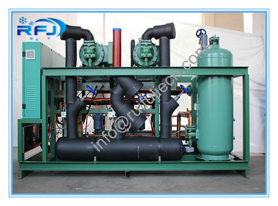 Air Cooled Two Screw Compressor Condensing Unit Model Dm2d20rfl with R404A 380V 50Hz