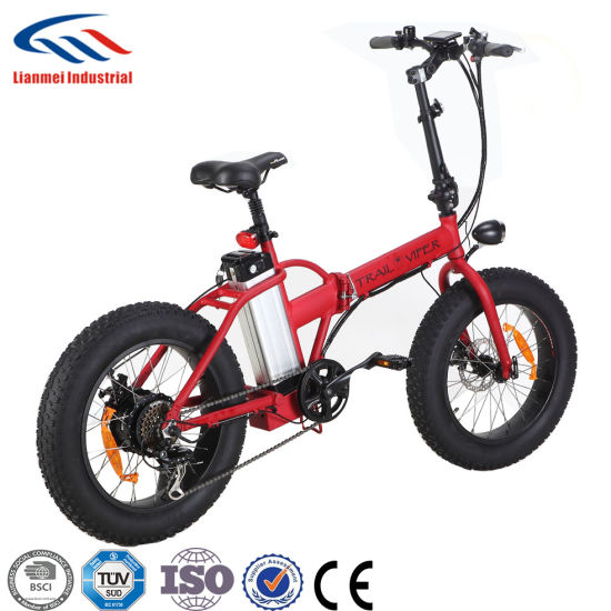 Lianmei Folding Fat Tire Mini Electric Bicycle pictures & photos