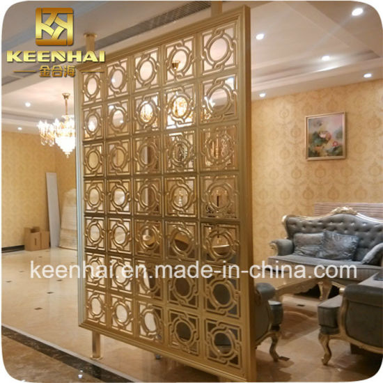 Cheap Metal Stainless Steel Copper Room Divider Partition (KH-RD003)