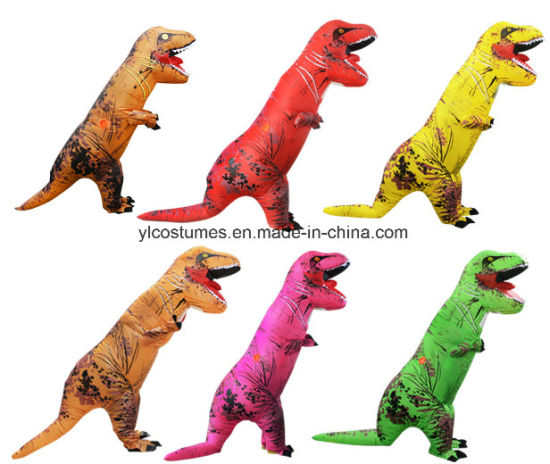 five colors inflatable t rex dinosaur costume halloween blow up costume