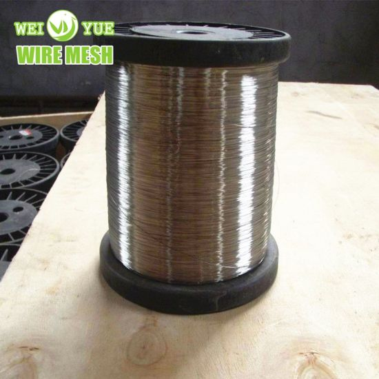 Ultra Thin 316L 0.035 mm Bright Annealed Stainless Steel Weaving Wires Used for Cut Resistant Gloves