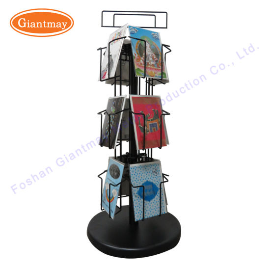 promotion rotating counter top metal wire spinner greeting card display rack - Greeting Card Display Rack