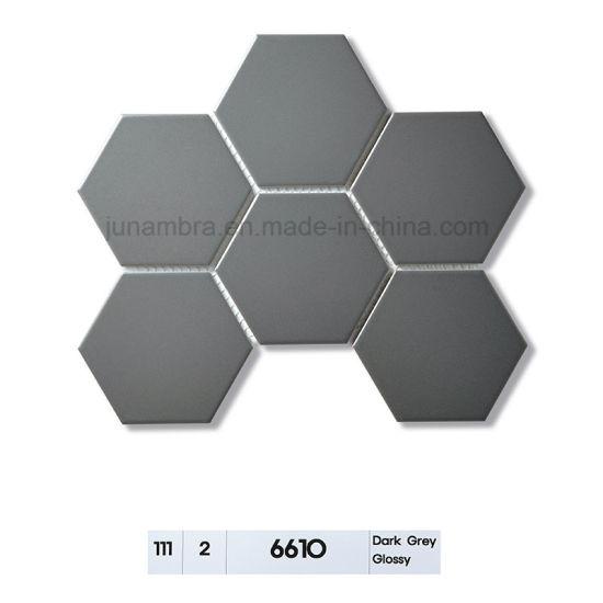 Glossy Hexagon Porcelain Mosaic Tile