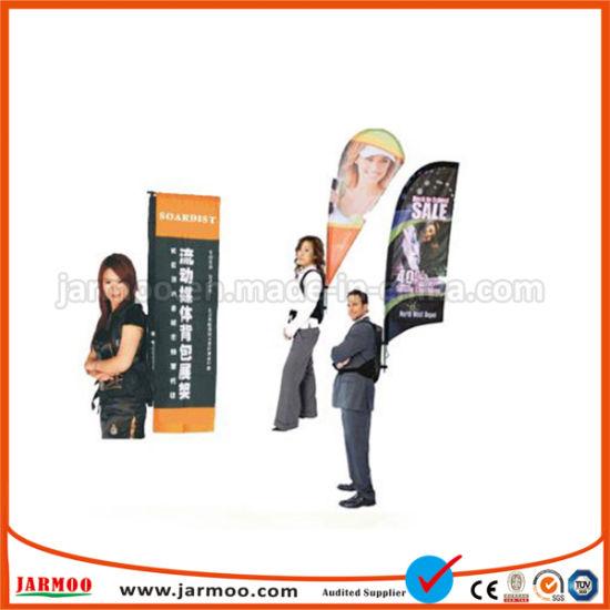 5075ba71e52 China Outdoor Advertising Teardrop Flying Backpack Banner Flag ...