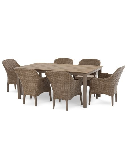Garden Furniture Patio Rattan Dining Table and Chairs