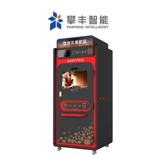 Coffee Maker Auto Freshly Ground Brewed Espresso Cappuccino Coffee Vending Machine with Kiosk Bubble Tea Machine