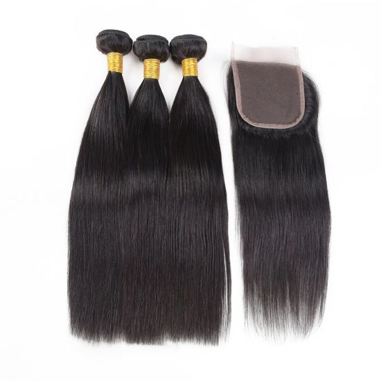 China Brazilian Straight Virgin Hair Extensions 8 30 Inch Bundles With Closure Natural Color China Virgin Brazilian Hair And 10a Unprocessed Brazilian Hair Price