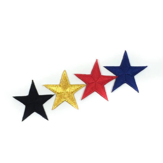 Beautiful 4 Color Star Embroidery Patch