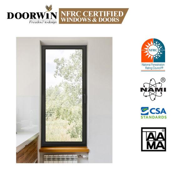 As2047 Nfrc Double Glass Tilt and Turn Aluminium Window Samples of Finished Aluminium Windows