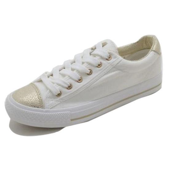 943c5ea2c4f Womens   Mens Vulcanized White Canvas Skate Shoes Km180605-4 pictures    photos