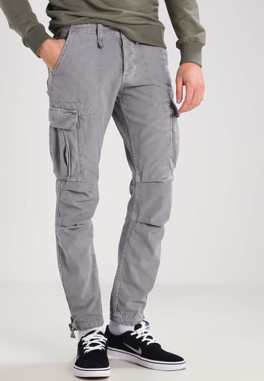 High Quantity OEM Casual Fashionable Trouser Waterproof Men Grey 6 Pockets Cargo Pants