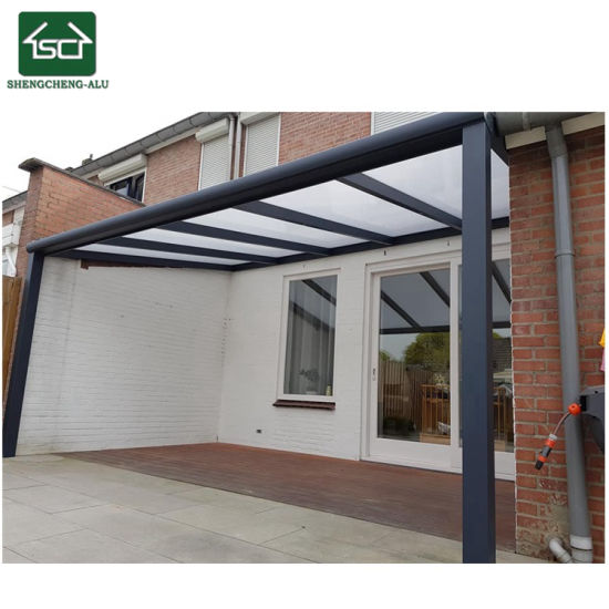 Aluminum Deck Patio Waterproof Awning With Motorized Sun Cover