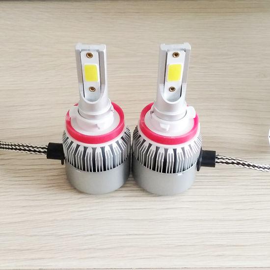 C6 H11/H8/H9 LED Headlight Bulbs Conversion Kit