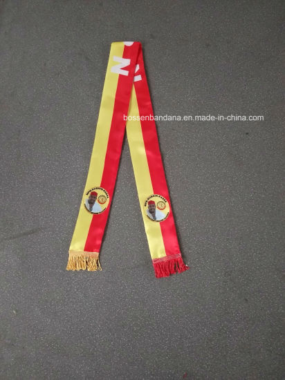 OEM Custom Polyester Satin Silk Like Election Support 150*18cm Photo Printed Scarf