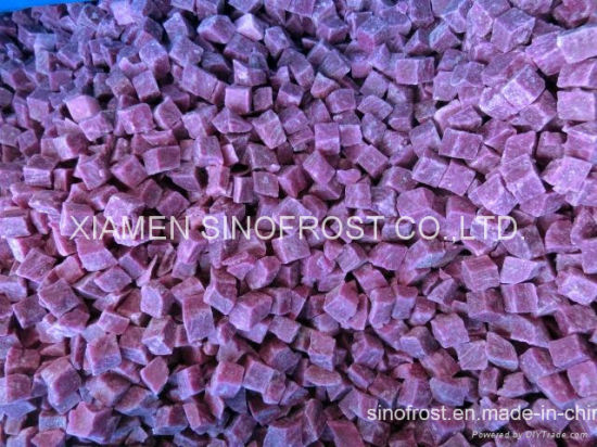 IQF Purple Sweet Potato, Frozen Purple Sweet Potato, Diced/Sliced/Sticks pictures & photos
