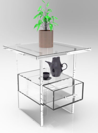 New Design Chinese Style Acrylic Coffee Tea Desk Furniture