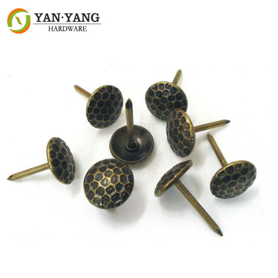 11mm Bronze Color Hammered Style Upholstery Iron Furniture Sofa Nails