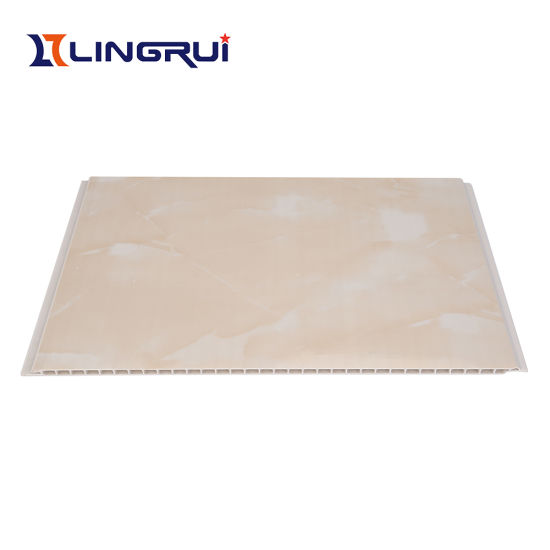 Interior Decorate Top-Quality PVC Wall Panel with Marble Design (LRW-006)