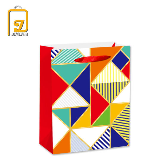 2020 BSCI New Colorful Printed Paper Gift Shopping Bags