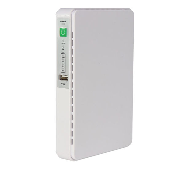 Mini DC UPS with Poe Port and Output 9V 12V 15V 24V for WiFi Routers and Cameras