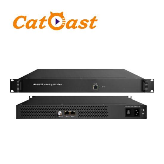 PAL NTSC Secam 64 IP Over Spts Mpts to Analog System Modulator