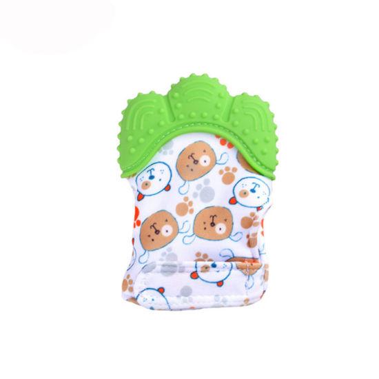 BPA Free Silicone Baby Teething Mitten Glove Teether Baby Teething Toys