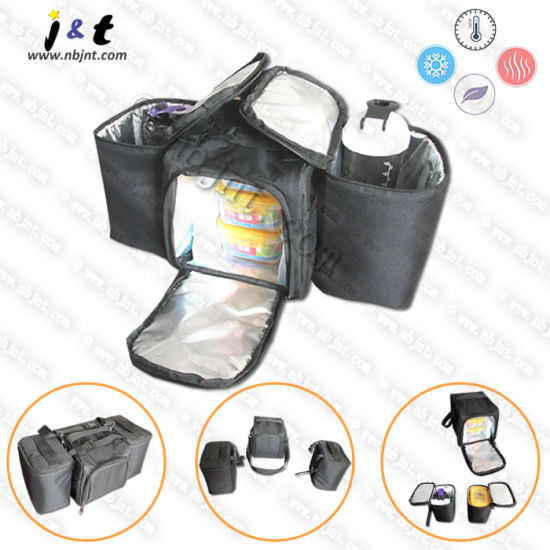 Wholesale Chinese Manufacturer Best-Selling Promotional Thermal Insulated Food Meal Cooler Box Divisible Lunch Organizer Fitness Meal Prep/Management Bag