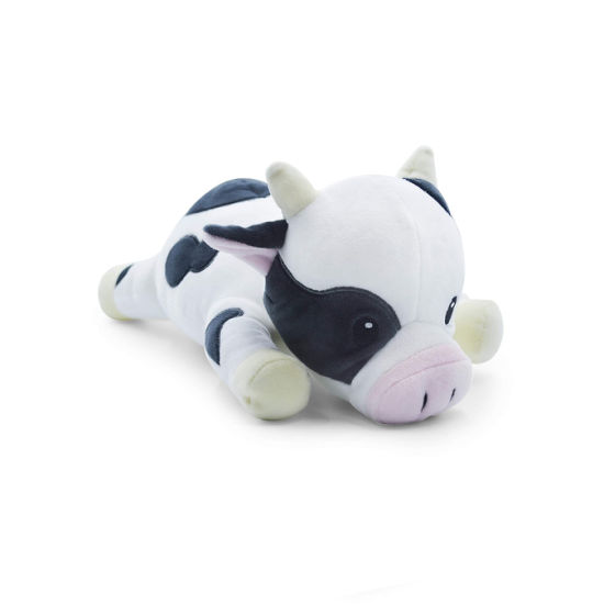 Cartoon Moo Lying Animal Soft Stuffed Cotton Plush Custom Toy